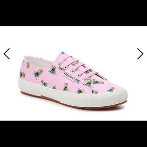 Superga Pink Satin Pineapple Sneakers- New in Box